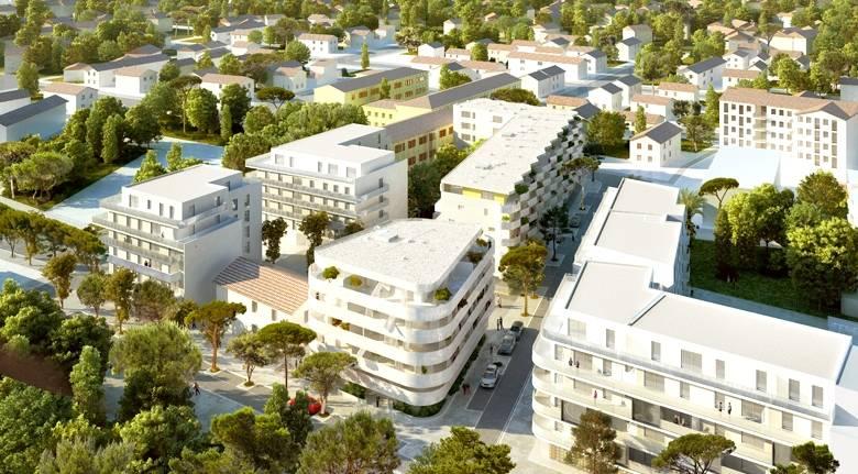 Vue aérienne de la résidence