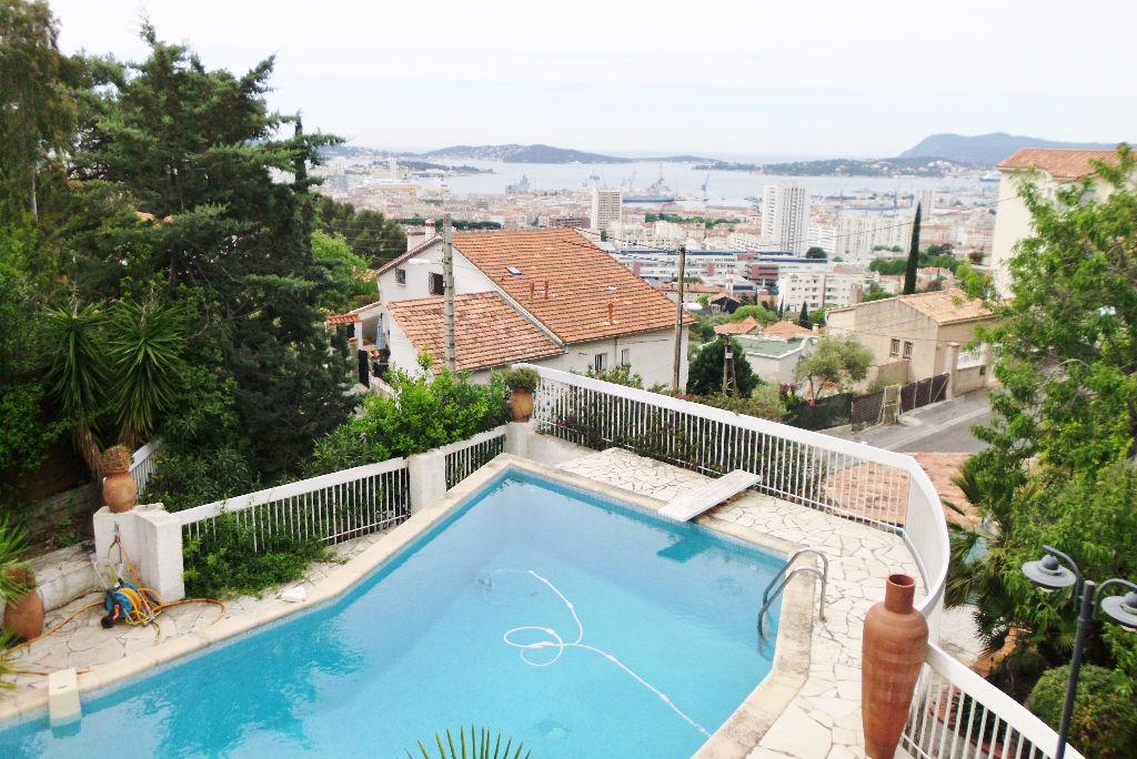 A vendre maison t8 a toulon 83000 faron avec piscine et vue mer a 180 agences papazian - Piscine debordement mer toulon ...